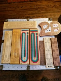 Cribbage wood board collection 533 km