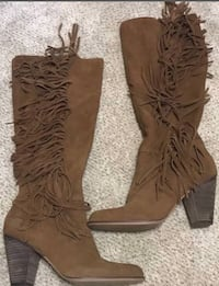 Sexy knee high real suede boots, Steve Madden