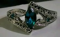 Blue Sapphire Sterling Silver Ring Fayetteville, 28306