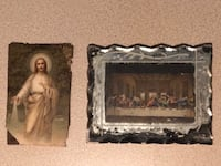 Small Very old pictures of Jesus and the Last Supper - 2.5 x 4""