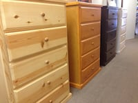 four wooden 5 drawer chest cabinets Norwalk, 90650