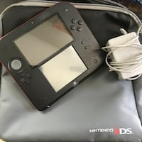 RED AND BLACK NINTENDO 2DS SYSTEM WITH CHARGER AND FREE CARRYING BAG / CASE Belmont