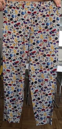 Gray and blue floral printed pants Лос-Анджелес