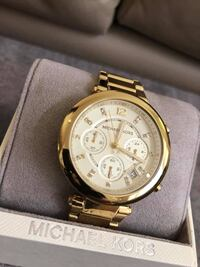 (RESERVED) Women's Parker Chronograph Champagne Dial Gold-Tone Watch Markham, L3P