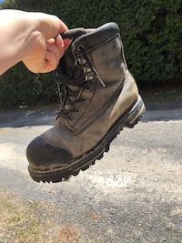 Brown leather work boot Gatineau, J9H 6A6