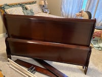 Ashley Furniture king bed, mattress, box springs, and dresser for sale