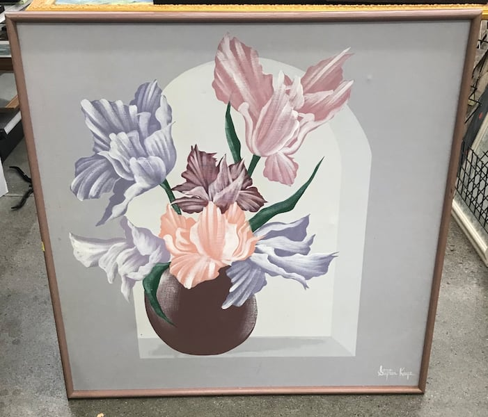 Original Signed Stephen Kaye Floral Painting 30737d21-59e4-43cf-8155-adad2298ccc9