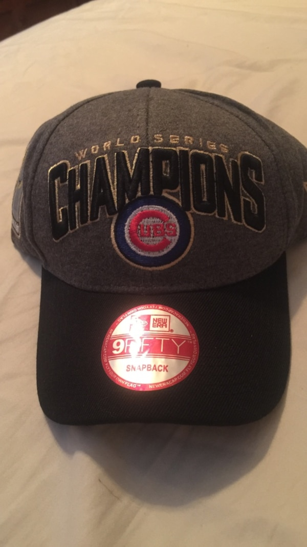 4cf57a4d627dd Used black and grey chicago cubs world series champions new era baseball cap  for sale in Oak Lawn - letgo