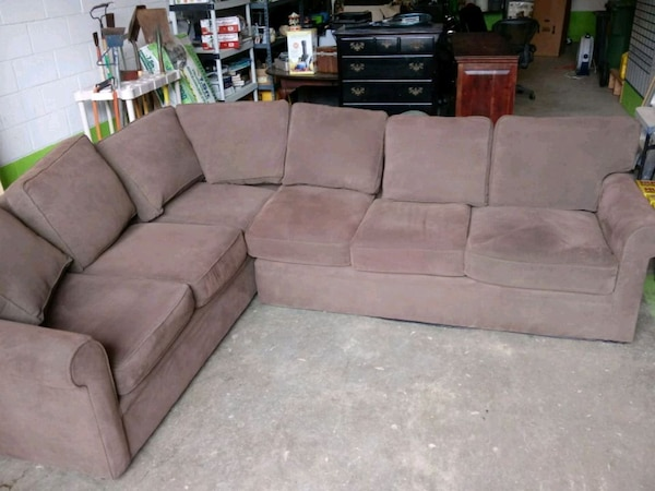 Rowe Furniture Sectional Couch, Brown