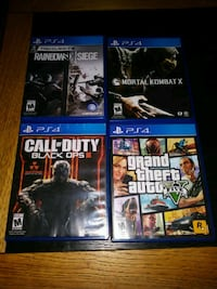 four assorted PS4 game cases Englewood, 80110