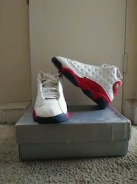 unpaired red and white Air Jordan 13 shoe Philadelphia, 19133