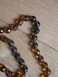 Amber and jade faceted bead necklace Naperville