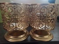 two brass-framed candle holders Oshawa, L1L 0C1