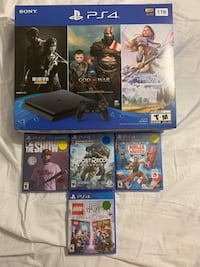New PS4 bundle with 3 games included + 4 more game. Brand new!.