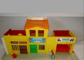 vintage fisher price village playset