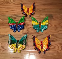 Ceramic Butterflies $5 each or $20 for all Reston, 20190