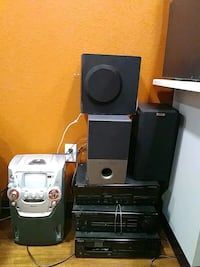 Black And Gray Home Theater System Denver 80219