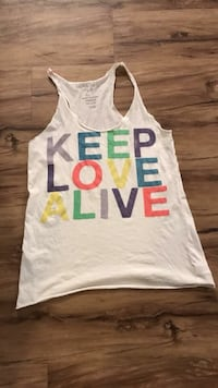 white and blue Love Pink tank top Boerne, 78006