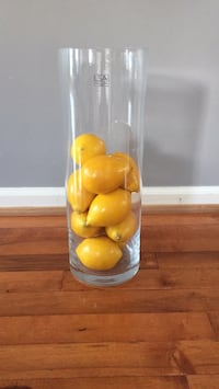 Glass Vase with artificial lemons Sterling, 20165