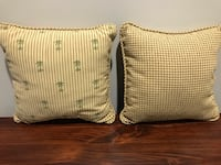 "Pillows - reversible; 14"" square. From animal and smoke free home. Council Bluffs, 51503"