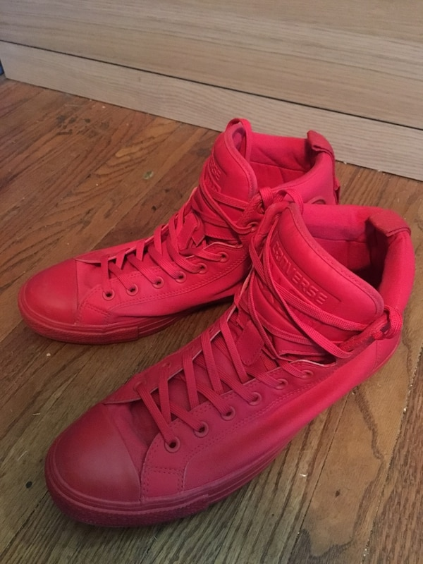 Converse Chuck Taylor Red Hi-Top sneakers size 12 men's!