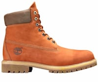Orange timberlands brand new worn once.