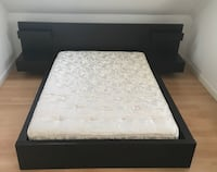Queen Black/Brown Bed Frame w/ Attached Side Tables Guelph, N1E 7K7