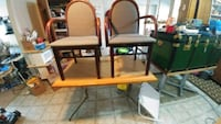 brown wooden framed brown padded armchair Welland, L3B 5X2