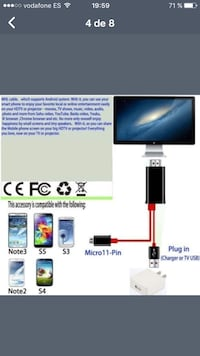 Cable hdmi para movil Zamora, 49028