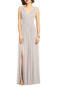 Nordstrom oyster bridesmaid dress