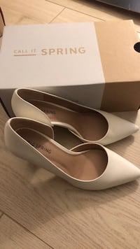 White shoes w/ heels 4 inches from Spring. Worn once. Good mint condition. Size 6.5 Winnipeg, R2K