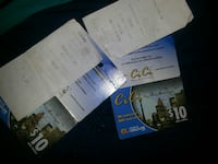 Two long distance calling cards with the receipts  Edmonton, T5J
