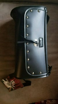 black and gray leather crossbody bag Barrie, L4M 3Z6