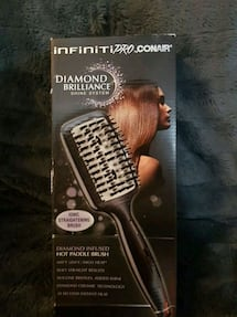 DIAMOND BRILLIANCE SHINE SYSTEM  IONIC STRAIGHTENING BRUSH
