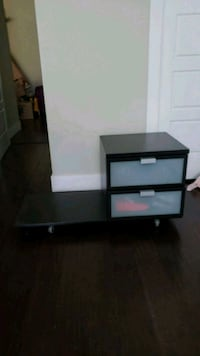 black and white wooden TV stand Burnaby, V5H 3Z5