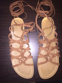 Forever 21 Brown Tie Up Sandals
