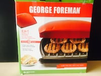 George Foreman Grill, Classic Plate Grill and Panini Press, 5 Servings, Red, GR2080RC Pickering