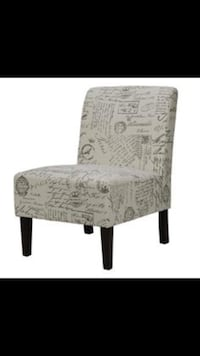 NEW HOMETRENDS FRENCH SCRIPT CHAIR FABRIC ACCENT CHAIR TAUPE - HOME FURNITURE LIVING ROOM Markham, L3S 1Y8