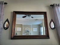 Mirror with sconces
