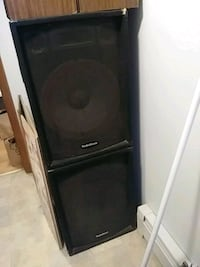 Two large PA speakers 310 mi