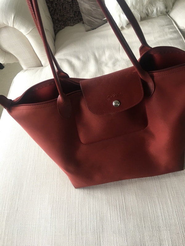 Longchamp Large Le Pliage Neo Bag in Red!!