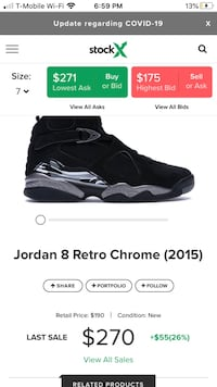 Jordan 8s Retro Chrome