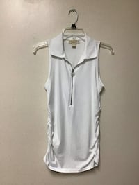 Women's MICHAEL KORS White cotton/spandex sleeveless top… Size medium