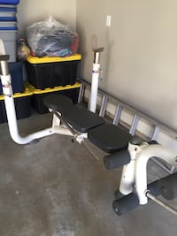 Heavy Duty Weight Bench, leg curl and incline