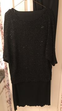 3 piece evening outfit. Beaded top. Long skirt and short skirt. Black Vaughan, L4J 7Y5