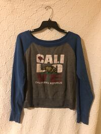 Grey and blue crew-neck California Republic sweater Lacey, 98503