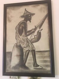 Large Senegalese Art. All the way from Africa. Beautiful black glass frame  Las Vegas, 89145