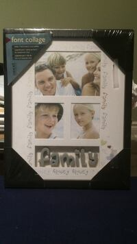 Font collage family photo frame
