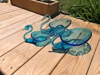 Set of Three Hand Blown Glass Swans  Westminster, 21158