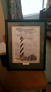 Lighthouse framed and matted picture